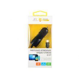 Универсальное зарядное устройство от прикуривателя 12В-24В UC-C17 (1 USB-порт, 2.1А, встроенный кабель USB Type-C) Цвет - чёрный