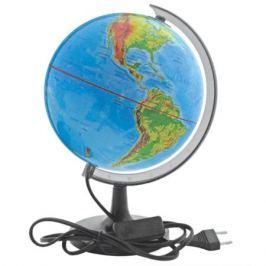 Глобус c двойной картой, политической и физической, с подсветкой, 20см