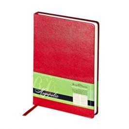 Ежедневник MEGAPOLIS, красный, лин., недатиров., бежевая бумага, ляссе, ф. А5