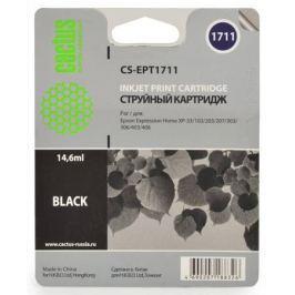 Картридж Cactus CS-EPT1711 для Epson Expression Home XP-33 103 203 207 303 306 403 406 черный