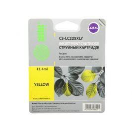 Картридж струйный Cactus CS-LC225XLY желтый для Brother DCP-J4120DW/MFC-J4420DW/J4620DW (1200стр.)