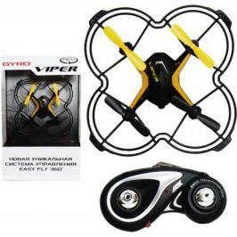 Квадрокоптер на радиоуправлении 1TOY GYRO-Viper черный от 4 лет пластик 2,4GHz 4 канала 12,5х12,5см,