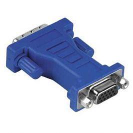 Адаптер Hama DVI (m) - VGA 15 pin HDD (f), синий H-45073