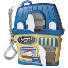Игровой набор 1 Toy Bbuddieez синий домик для хранения с подвеской,3 шарма-перс.,18х14х2см,блистер