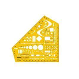 Шаблон электроинжинерный Rotring Studio пластик желтый S0238591