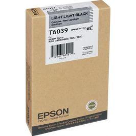 Картридж Epson Original T603900 для Stylus Pro 7800/9800/7880/9880. Светло-светло-черный.