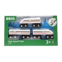 Пассажирский поезд- экспресс Brio со звуком,3 дерев.ваг.,35х3х5см,кор.