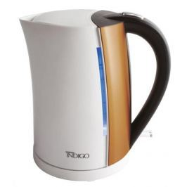 Чайник Scarlett IS-EK20P01 2200 Вт 1.7 л металл/пластик белый коричневый