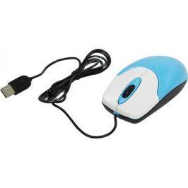 Мышь проводная Genius 120 V2 голубой USB