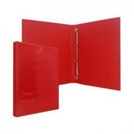 Папка-файл на 4 кольцах, красная, PVC, 25 мм, диаметр 16мм