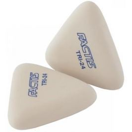 Ластики FACTIS мягкие, треугольные из синтетического каучука, 2 шт. в наборе, блистер