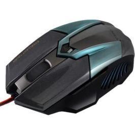 Мышь проводная Crown CMXG-606 синий чёрный USB