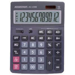 Калькулятор 12-разр., дв. питание, дв. память, черный пластик, большой дисплей, разм.206х155х35 мм A