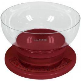 Весы кухонные Lumme LU-1303 красный гранат