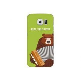 Чехол Deppa Art Case и защитная пленка для Samsung Galaxy S6, Патриот_Медведь гармонь,