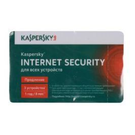 Программное обеспечение Kaspersky Internet Security Multi-Device Russian Edition. 3-Device 1 year Renewal Card (KL1941ROCFR)