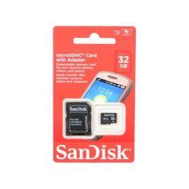 MicroSDHC SanDisk 32Gb Class 4 + Адаптер (SDSDQM-032G-B35A)