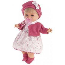 Кукла Munecas Antonio Juan Кристиана в малиновом 30 см плачущая 1338R