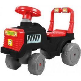 Каталка-трактор R-Toys ОР931к пластик от 1 года черно-красный