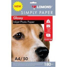 Фотобумага Lomond Simply A4 180г/м2 50л белый глянцевое покрытие для струйной печати 0102169