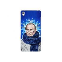 Чехол Deppa Art Case и защитная пленка для Sony Xperia Z3, Person_Путин звезда,