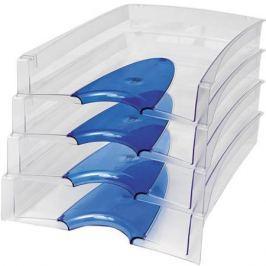 Лоток для бумаг горизонтальный LUX, синий IT808Bu
