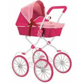 Кукольная коляска RT цвет фуксия+розовый 603