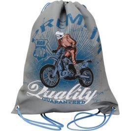 Мешок для обуви ACTION by TIGER Мотоциклист High Jump, разм.37 х 33 см, серый