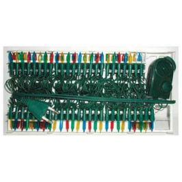Гирлянда электрическая, 100 ламп, прозрачная, цветная, музыкальная, 3 мелодии, с контр, 5,35+1,5 м
