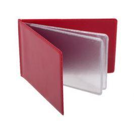 Визитница на 24 визитки, разм.7х11,5 см, бордовая, PVC