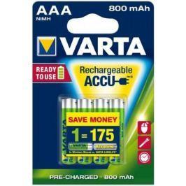 Аккумулятор 800 mAh Varta R2U AAA 4 шт
