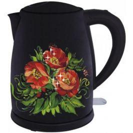 Чайник Добрыня DO-1215 2200 Вт чёрный рисунок 1.8 л нержавеющая сталь