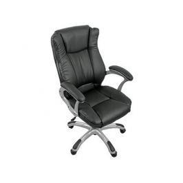 Кресло руководителя COLLEGE HLC-0631-1, черный, экокожа, 120 кг, подлокотники пластик/кожа, крестовина пластик с вставками, (ШxГxВ), см 66x69x103-113