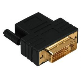 Переходник DVI-D-HDMI(f) Compact Dual Link Hama позолоченные контакты черный 122237