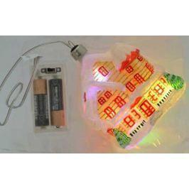 Украшение елочное ДОМИК с LED, 1 шт, 12 см, в карт.кор, стекло