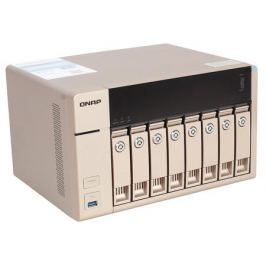 Сетевой накопитель QNAP TVS-863+-16G Сетевой RAID-накопитель, 8 отсеков для HDD, HDMI-порт. Четырехъядерный AMD 2,4 ГГц, 16ГБ, 10GbE.