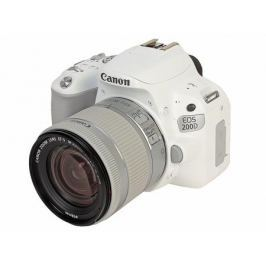 Фотоаппарат Canon EOS 200D KIT White (зеркальный, 24,2Mp, EF18-55 IS STM, 3