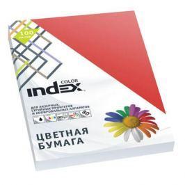 Бумага цветная Index Color, 100 листов, А4, красный