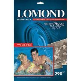 1108100 бумага LOMOND (A4, 290гр, 20л) Photo Глянцевая, 1 стор.