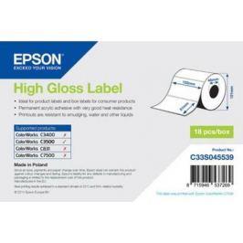 Бумага Epson High Gloss Label 102x51мм C33S045539