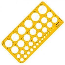 Шаблон чертежный Rotring Окружности 255x129x16мм масштаб 1:1 пластик прозрачный желтый S0221691