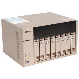 Сетевой накопитель QNAP TVS-863+-8G 8 отсеков для HDD, HDMI-порт. Четырехъядерный AMD 2,4 ГГц, 8 ГБ, 10GbE.