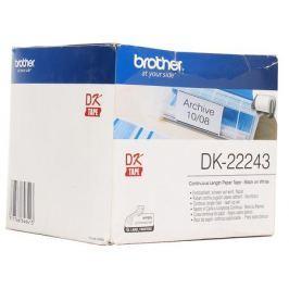 Лента Brother DK22243 бумажная клеящаяся белая 102мм*30,48м