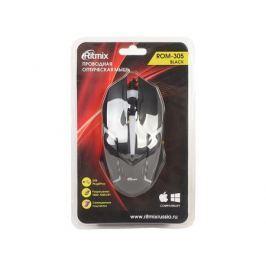 Мышь проводная Ritmix ROM-305 Black USB проводная, оптическая, 1200 dpi, 2 кнопки + колесо