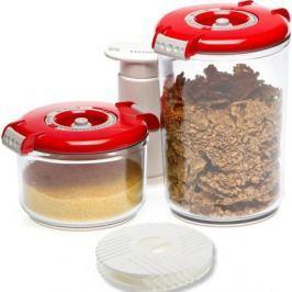 Набор контейнеров для вакуумного упаковщика Status VAC-RD-Round красный