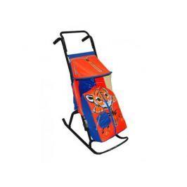 Санки-коляска RT Снегурочка 2 Р Тигренок до 50 кг сталь синий красный