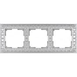 Рамка Antik на 3 поста жемчужный WL07-Frame-03 4690389063510