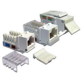 Модуль розетки Lanmaster RJ45 Keystone UTP Cat 5Е LAN-OK45U5E/90-WH