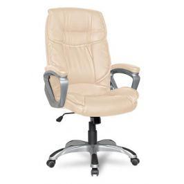 Кресло руководителя COLLEGE XH-2002 Бежевый, экокожа, 120 кг,крест.ударопрочный пластик,подлокот. пластик с кож. накладками,ШxГxВ см53х53х109-119
