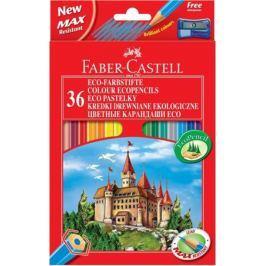 Карандаши цветные Faber-Castell Eco Замок 36 цветов точилка 120136